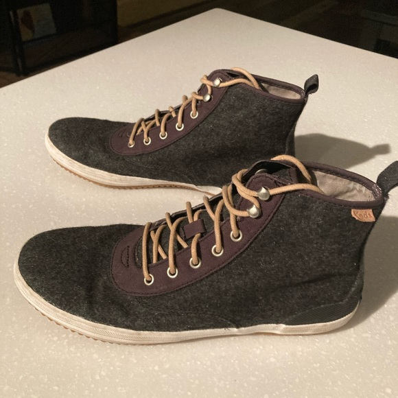 Keds gray hightop sneakers